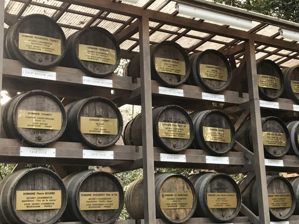 献上されたワインの酒樽