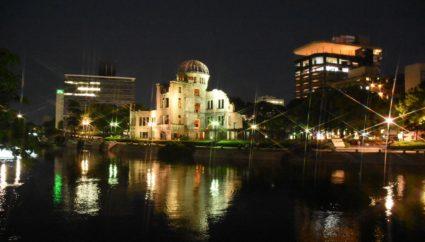 原爆ドームライトアップ